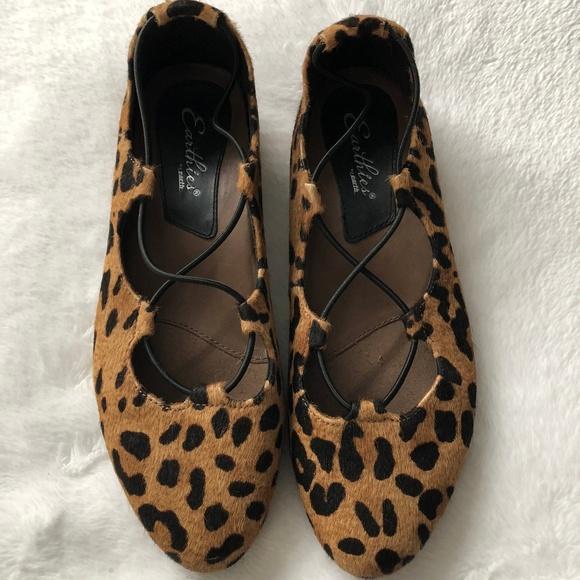 af493d97d1f6 Earthies Shoes | Nwt Leopard Essen Ghillie Flat | Poshmark